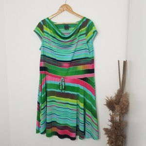 Gabby Skye   Striped Cinch Waist Mini Dress 14